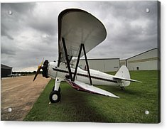 Acrylic Print featuring the photograph Boeing Stearman M7 by Linda Unger