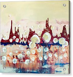 Acrylic Print featuring the painting Boiling by Mary Rimmell