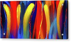 Be Bold - Primary Colors Abstract Art Acrylic Print