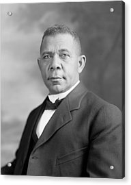 Booker T. Washington Acrylic Print by War Is Hell Store
