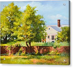 Boone Hall Plantation Acrylic Print by Jane Woodward