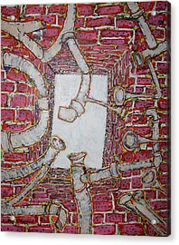 Bosque Powerhouse Acrylic Print by Ray  Petersen