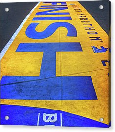Acrylic Print featuring the photograph Boston Marathon Finish Line by Joann Vitali