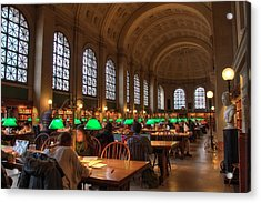 Acrylic Print featuring the photograph Boston Public Library by Joann Vitali
