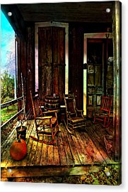 The Country Store Porch Acrylic Print by Julie Dant