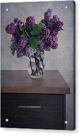 Acrylic Print featuring the photograph Bouquet Of Fresh Lilacs by Jaroslaw Blaminsky
