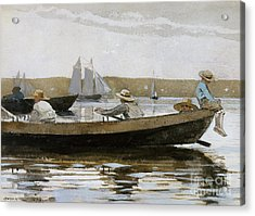 Boys In A Dory, 1873  Acrylic Print by Winslow Homer