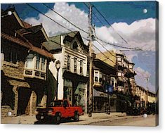 Brady Street Scene Acrylic Print