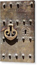 Brass Door Knocker Acrylic Print by David Letts