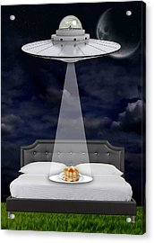 Breakfast In Bed Acrylic Print by Marvin Blaine