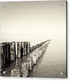 Breakwaters Acrylic Print by Wim Lanclus