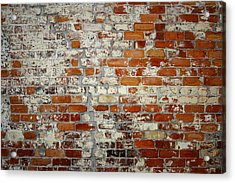 Brick Wall Acrylic Print by Les Cunliffe