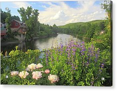 Bridge Of Flowers Shelburne Falls Acrylic Print by John Burk