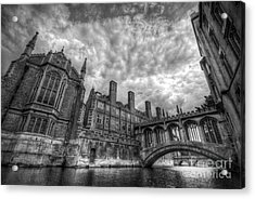 Bridge Of Sighs - Cambridge Acrylic Print by Yhun Suarez