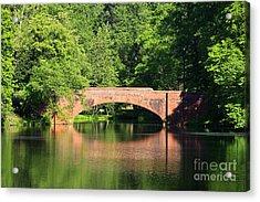 Bridge Reflection In The Spring Acrylic Print
