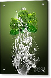 Broccoli Splash Acrylic Print by Marvin Blaine