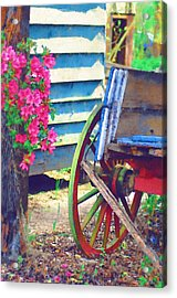 Acrylic Print featuring the photograph Broken Wagon by Donna Bentley