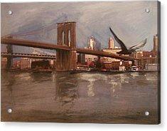 Brooklyn Bridge Acrylic Print by Anita Burgermeister