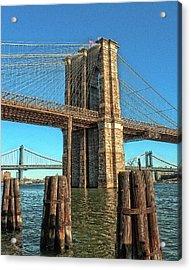 Brooklyn Bridge Acrylic Print by Francis Dangelo