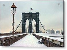 Brooklyn Bridge Acrylic Print by June Marie Sobrito