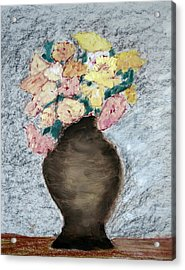 Brown Urn Acrylic Print by Patricia Cleasby