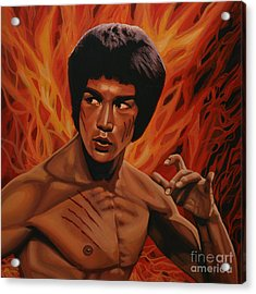 Bruce Lee Enter The Dragon Acrylic Print by Paul Meijering