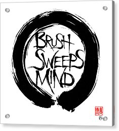 Brush Sweeps Mind Acrylic Print