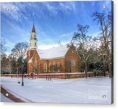 Bruton Parish In Winter II Acrylic Print