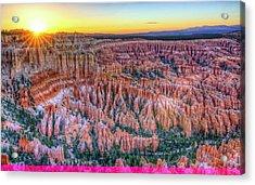 Bryce Canyon Sunset Acrylic Print