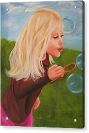 Bubbles Acrylic Print by Joni McPherson
