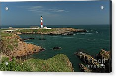 Buchan Ness Lighthouse And The North Sea Acrylic Print