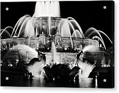 Buckingham Fountain At Night Acrylic Print