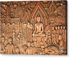 Buddha Acrylic Print by Niphon Chanthana