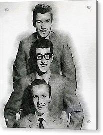 Buddy Holly And The Crickets Acrylic Print by John Springfield