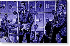 Buddy Holly And The Crickets Acrylic Print by Marvin Blaine