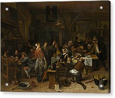 Budget Day Acrylic Print by Jan Steen