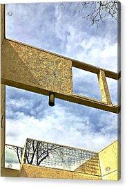 Building Acrylic Print by Gillis Cone