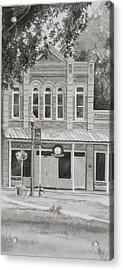 Building On The Square Acrylic Print by Karen Boudreaux