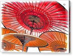 Burmese Parasols Acrylic Print by Dennis Cox WorldViews
