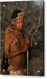 Bushmen Hunter Acrylic Print by Miranda  Miranda