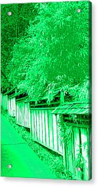 Butchart Gardens Fence Image Acrylic Print by Paul Price