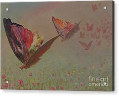 Butterflies With Riders Acrylic Print