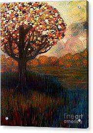 Button Tree 0001 Acrylic Print by Monica Furlow