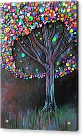 Acrylic Print featuring the painting Button Tree 0006 by Monica Furlow