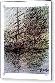 By The Lake Acrylic Print by Aida Behani