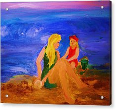 Acrylic Print featuring the painting By The Sea by Evelina Popilian