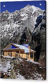 Acrylic Print featuring the photograph Meeting Point Mountain Restaurant by Aidan Moran