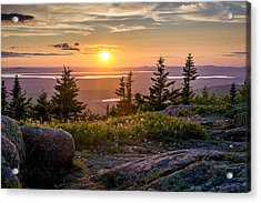 Cadillac Mountain Sunset  Acrylic Print