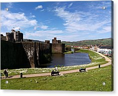 Caerphilly Castle Acrylic Print by Andrew Read