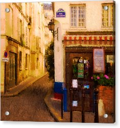 Cafe On The Rue Des Ursins Acrylic Print
